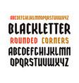 narrow sanserif font in black letter style vector image vector image