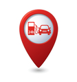 petrol station AND car RED pointer vector image vector image