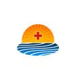 plus medical ocean creative abstract business logo vector image vector image