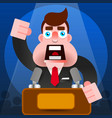 president speech with podium icon - public vector image vector image