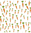 ripe carrots flat seamless pattern on white vector image vector image