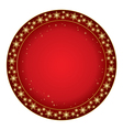 round red background for christmas vector image
