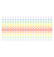 ruby ring shape halftone spectral effect vector image vector image