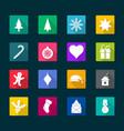 set christmas flat icons vector image