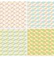 set four seamless pattern vector image