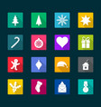 set of christmas flat icons vector image vector image