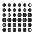 Set of sewing buttons isolated vector image vector image