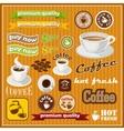 Set of vintage coffee and tea icon vector image vector image