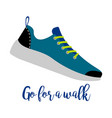 shoes with text go for walk vector image vector image