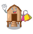 shopping chiken coop isolated on a mascot vector image vector image