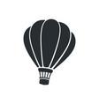 silhouette hot air balloon vector image