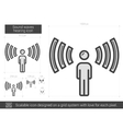 Sound waves hearing line icon vector image