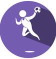 Sport icon design for soccer vector image