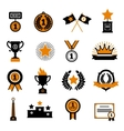 Stars And Awards Decorative Icons Set vector image vector image