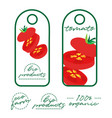 tags design label design fresh foods vegetable vector image