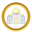 Taj Mahal India icon vector image