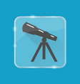 telescope silhouette icon in flat style on vector image