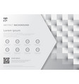 template layout white and gray geometric squares vector image vector image