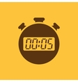 The 5 seconds minutes stopwatch icon Clock and vector image vector image
