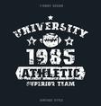 university rugby team emblem vector image vector image