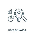 user behavior outline icon thin line style from vector image