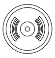 Vinyl record icon outline style vector image vector image