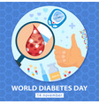 world diabetes day 14 november poster design vector image