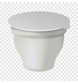 yogurt white box mockup realistic style vector image vector image