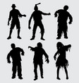 zombie horror silhouette vector image