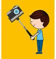 photographic camera design vector image