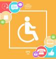 wheelchair handicap icon vector image