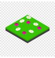meadow landscape isometric icon vector image