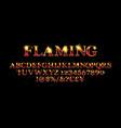 abstract flaming font a vector image