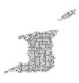 abstract schematic map of trinidad and tobago vector image vector image