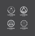 Alphabet letter a circle logo icon set vector image vector image