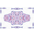 arabic ornate element vector image vector image