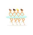 ballet theatre ballerinas performing dance vector image