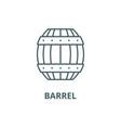 barrel line icon barrel outline sign vector image