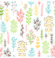 blossom branches easter seamless pattern vector image