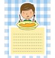 boy eating vector image