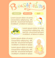 breastfeeding newborn template of page vector image vector image