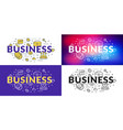 business flat line concept for web banner and vector image