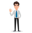 business man in office style clothes vector image vector image