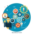 Businessman Describes Successful Strategy Plan vector image vector image