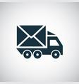 car mail icon simple concept symbol design vector image