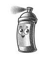 cartoon spray paint can sketch vector image
