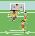 children play football vector image vector image