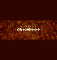christmas banner horizontal design template vector image vector image