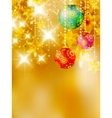 Christmas stars design template vector image vector image