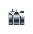 city building related glyph icon vector image vector image